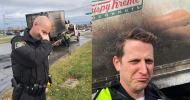 Cops Hilariously Mourn Loss of Doughnuts After Krispy Kreme Truck Fire