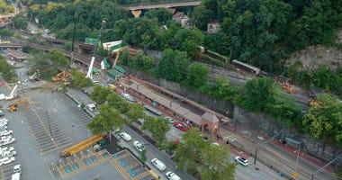 Train Derailment Near Station Square in Pittsburgh