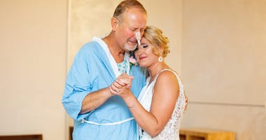 Daughter Surprises Sick Father By Getting Married In His Hospital Chapel