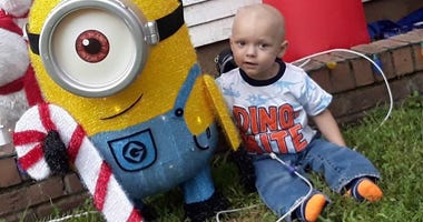 Family And Neighbors Create Christmas Early For Boy With Terminal Brain Cancer