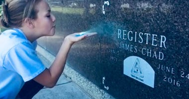 Family Honors Father's Memory By Leaving Glitter At Cemetery Instead Of Flowers