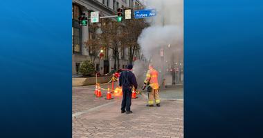 Fire Downtown underground