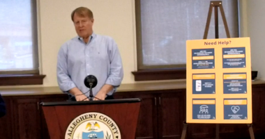 Allegheny County Executive Rich Fitzgerald updates the media on April 29, 2020