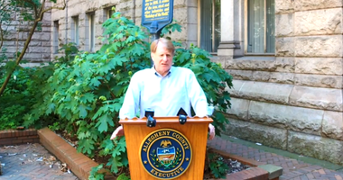Rich Fitzgerald addresses the media on May 29 after green phase announcement