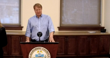 Rich Fitzgerald during a coronavirus news conference on May 6, 2020
