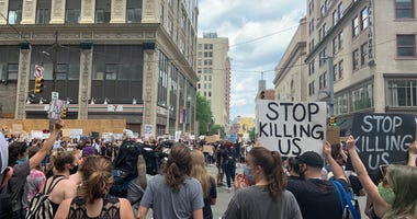 George Floyd Protesters On June 4, 2020 downtown Pittsburgh