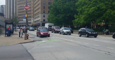 PennDOT is using the Forbes Avenue reconstruction project in Oakland to remind motorists to slow down and pay attention in highway construction zones.