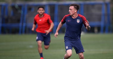 US Men's Soccer Practice