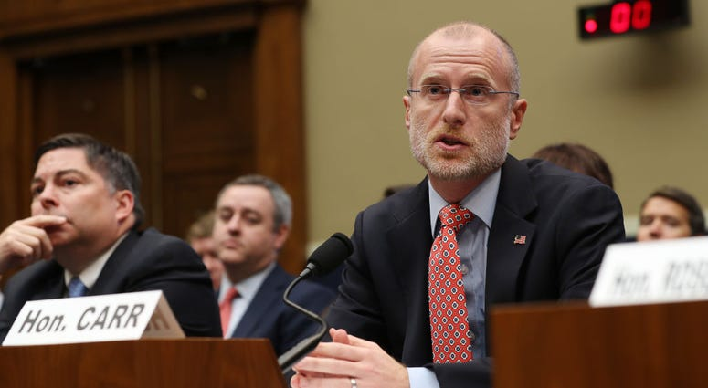Federal Communication Commission Commissioner Brendan Carr testifies before the House Energy and Commerce Committee's Communications and Technology Subcommittee