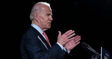 Democratic presidential candidate former Vice President Joe Biden