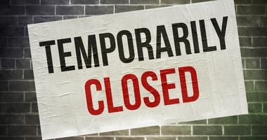Temporary Closing Sign
