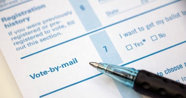 Voter Registration - Vote by Mail with pen