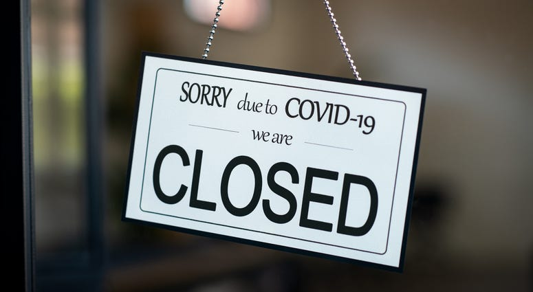 Closed Sign in Window