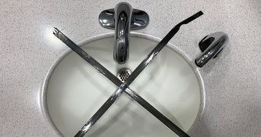 A closed-off sink