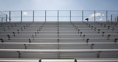 Empty High School Bleachers
