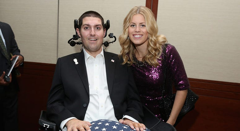 NEW YORK, NY - DECEMBER 09: Pete Frates and Julie Frates attend the Sportsman Of The Year 2014 Ceremony on December 9, 2014 in New York City.