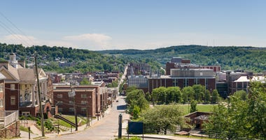 WVU Campus in Morgantown, West Virginia