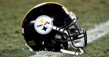 Pittsburgh Steelers Helmet on Field