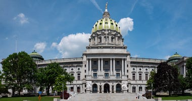 Pennsylvania State Capitol Architecture Building Panorama