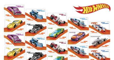 Hot Wheels 50th Anniversary Stamps