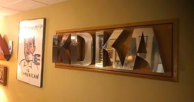 KDKA Radio sign in Graci's office