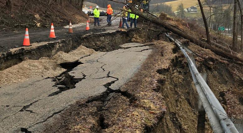 Landslide on Clara Drive