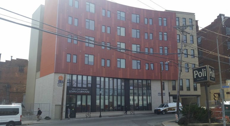 Affordable housing has gone up at a location that once housed one of the swankiest restaurants in the city.