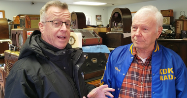 Larry Richert at Mel Check's Radio Museum