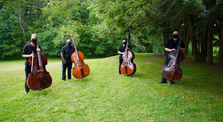 Members of the Pittsburgh Symphony Orchestra's Bass Section
