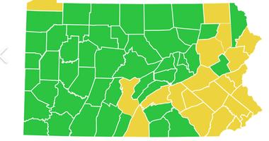 PA Green coronavirus Map June 12