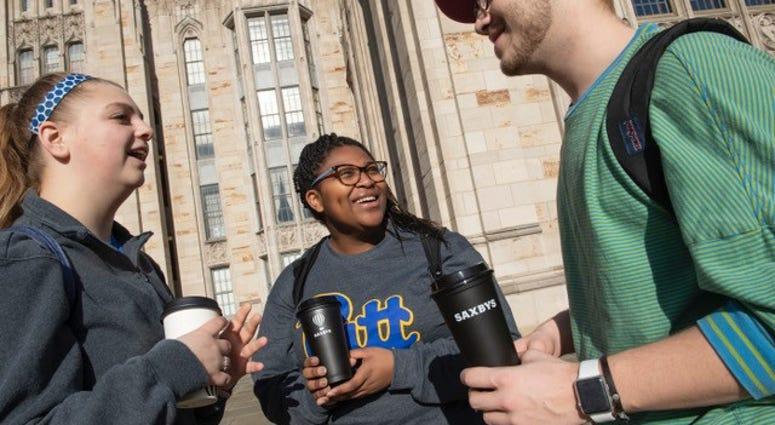 Pitt Students enjoying coffee