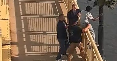 Pittsburgh Police Stop Man From Jumping Off Bridge
