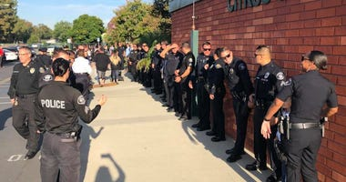 Police Accompany Son Of Fallen Officer On First Day Of Kindergarten