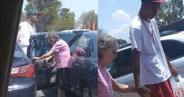 Proud Mom Captures Moment Teen Helps Elderly Woman Cross the Street