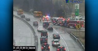 School Bus Accident Parkway East Outbound