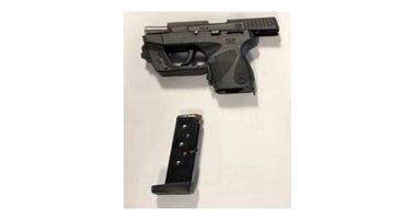 Loaded handgun found at checkpoint