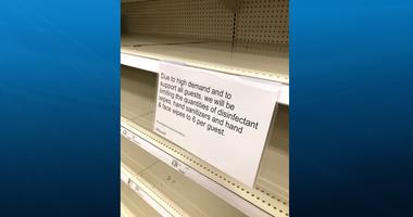Low supplies at Target