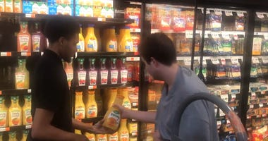 Teen with Autism Gets Supermarket Job After Helping Employee Stock Shelves