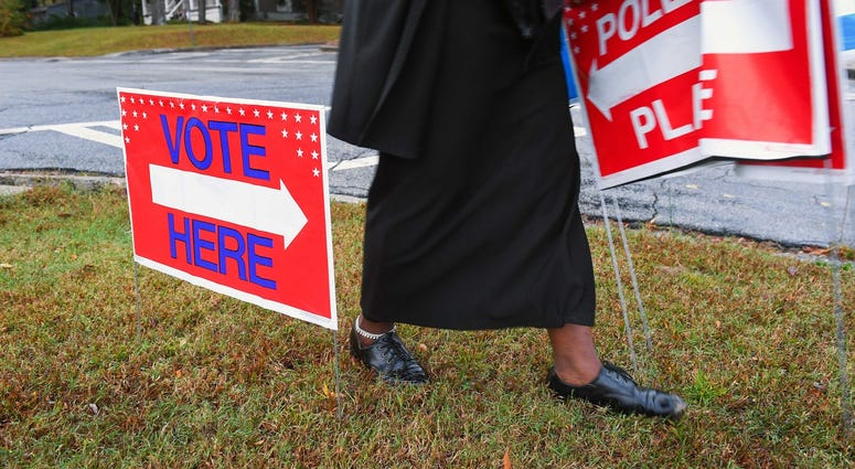 Polling Signs For Election