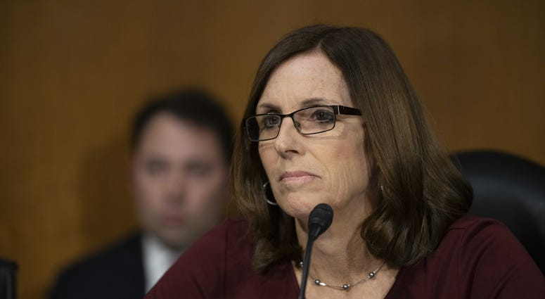 Sen. Martha McSally, R-Ariz., attends the testimony of Jerome Powell, Chairman, Board of Governors of the Federal Reserve System,