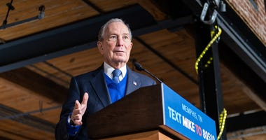 Mike Bloomberg delievers a speech