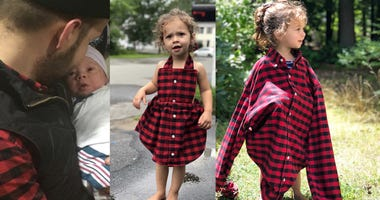 Why Mom Sewed Daughter's Dress Out Of Shirt Dad Wore The Day She Was Born