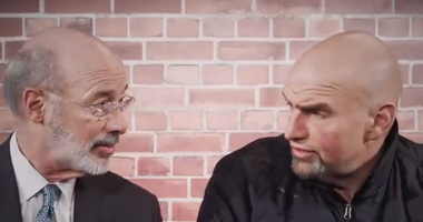 Tom Wolf and John Fetterman read mean tweets