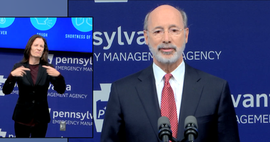 Governor Tom Wolf during a news conference on May 11, 2020