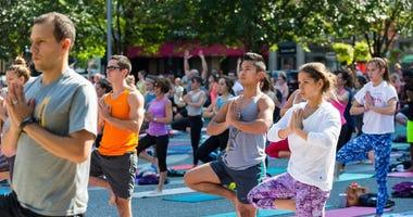 Yoga in the Square