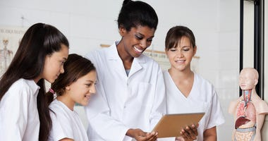 Girls In Laboratory