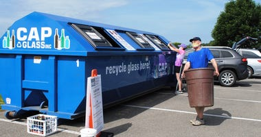 PRC Traveling Glass Recycling Bin Program