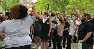 George Floyd Protesters in Market Square Tuesday, June 2