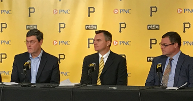 New GM Ben Cherington with Owner Bob Nutting and President Travis Williams