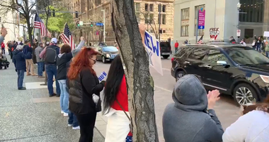 Protesters downtown want PA reopened